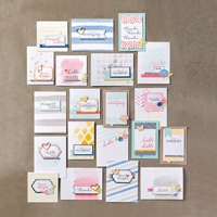 Watercolor Wishes Card Kit