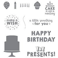 Party Wishes Wood-Mount Stamp Set