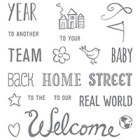 Welcome Words Photopolymer Stamp Set