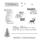 Greetings From Santa Wood-Mount Stamp Set