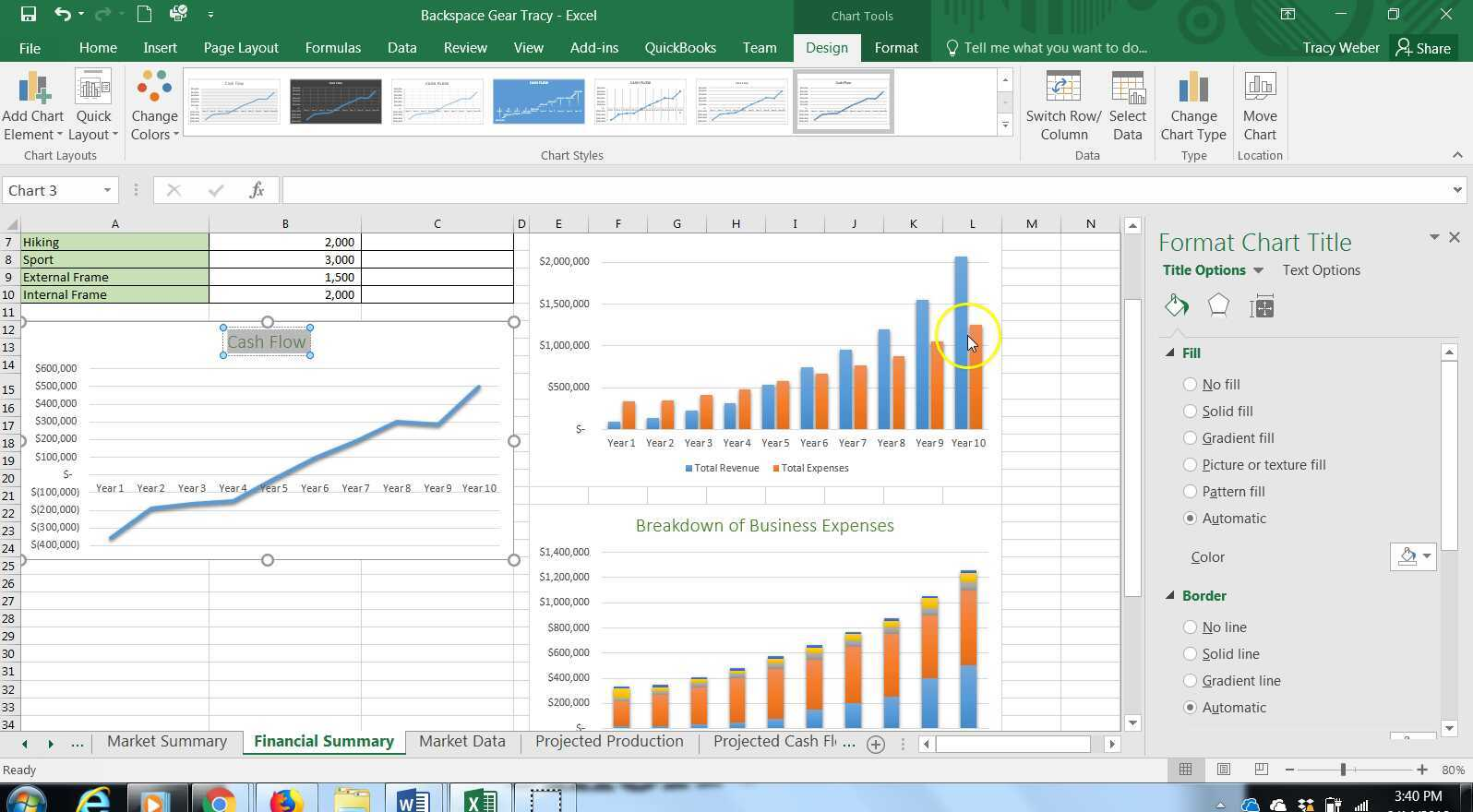 Advanced Computer Apps Excel Module 4 Working With Axes