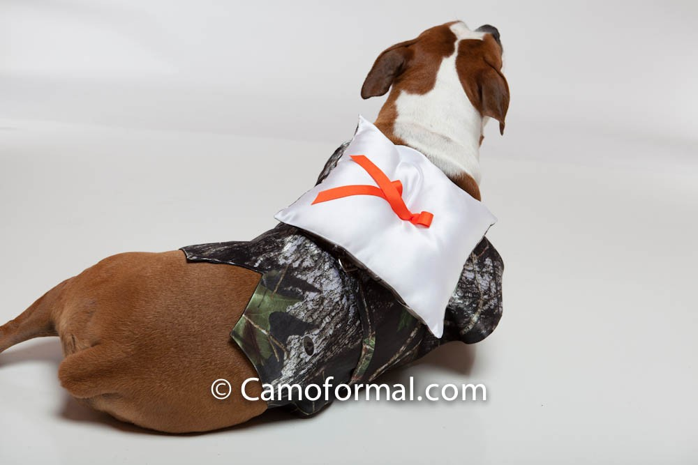 Dogs Vest With Ring Bearer Pillow Camouflage Prom Wedding