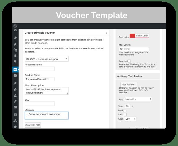 Woocommerce Gift Certificates Pro Giftsite