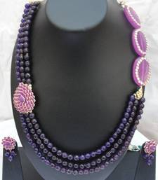 Buy Puple Pari Necklace Set necklace-set online