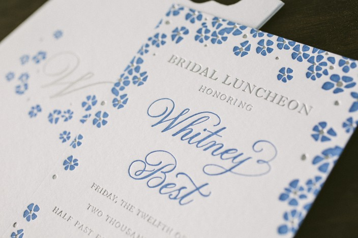 Courtesy of minted in this article there are so many details that go into planning a bridal. Blue Bridal Shower Invitations Foil Stamped Liners