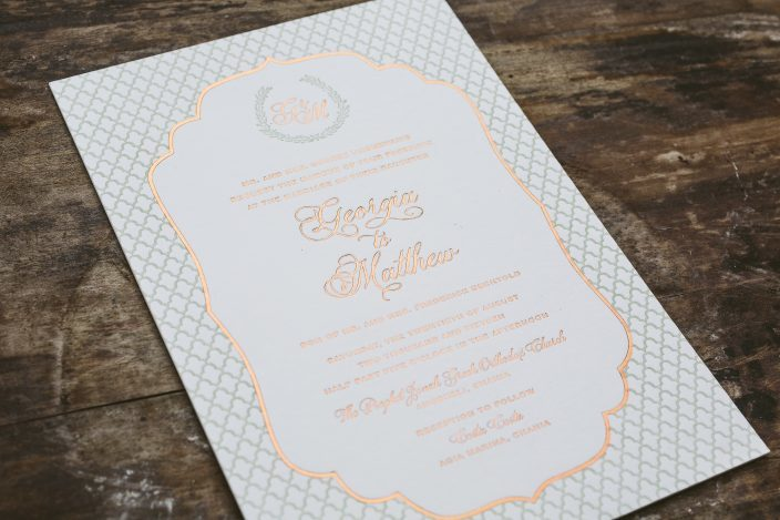 Bilingual Wedding Invitations