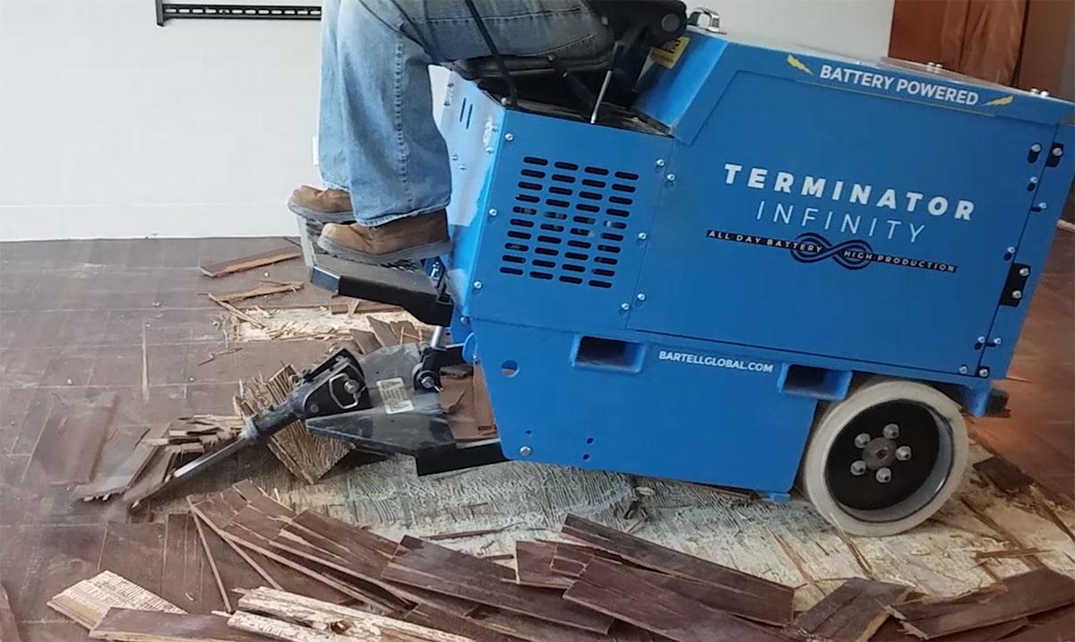 ride on floor scraper removal services
