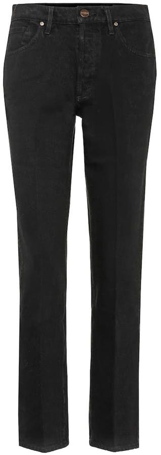 The Benefit Straight Leg Jeans with Stretch in Black