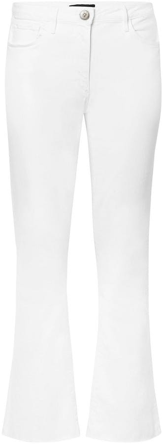 W25 Crop Mid-rise Flared Jeans