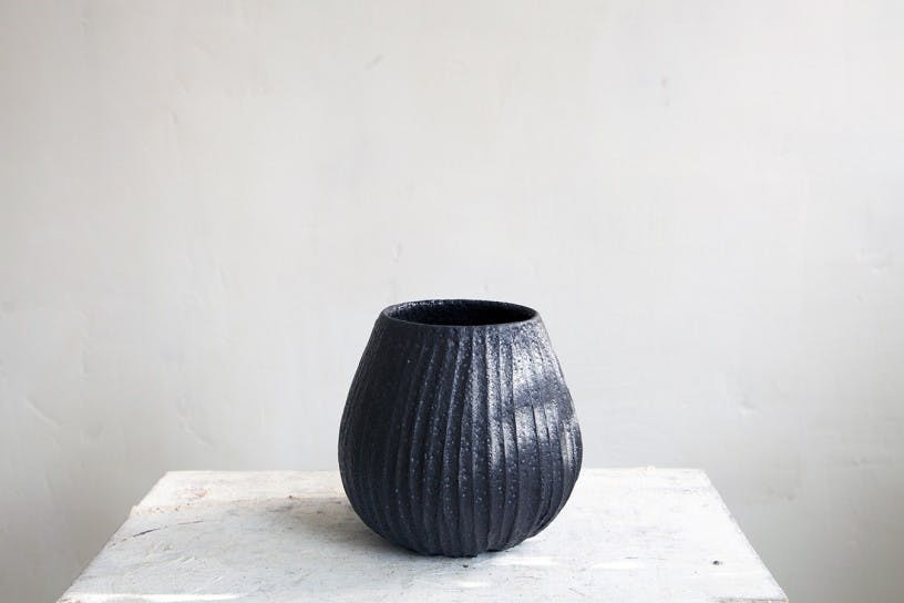 Dark Grey Vase by Janaki Larsen