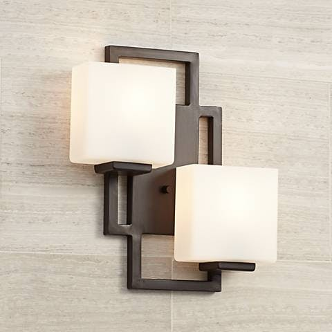 High Bronze Wall Sconce
