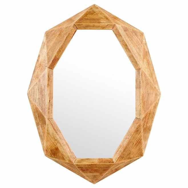 Octagon Wood Mirror