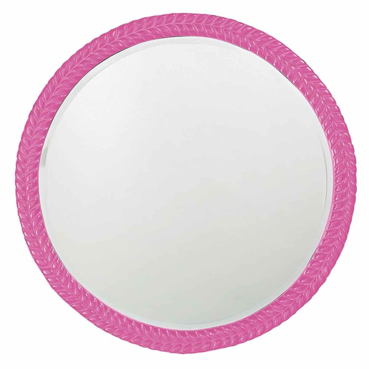Amelia Glossy Hot Pink Mirror
