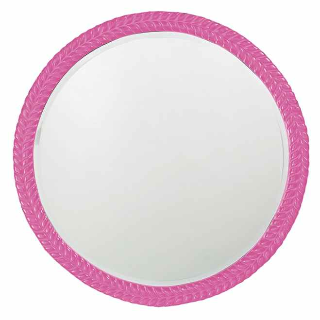 Amelia Glossy Hot Pink Mirror