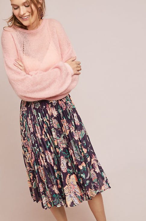 Benmore Pleated Floral Skirt