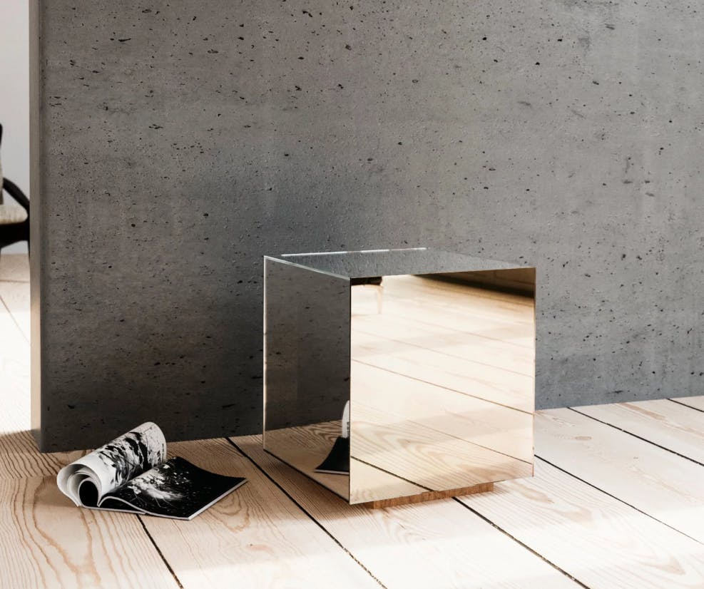 Golden Mirrored Nightstand