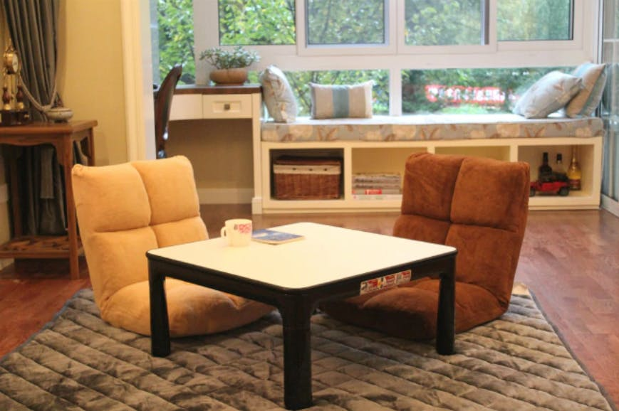 Kotatsu Coffee Table with Folding Lets