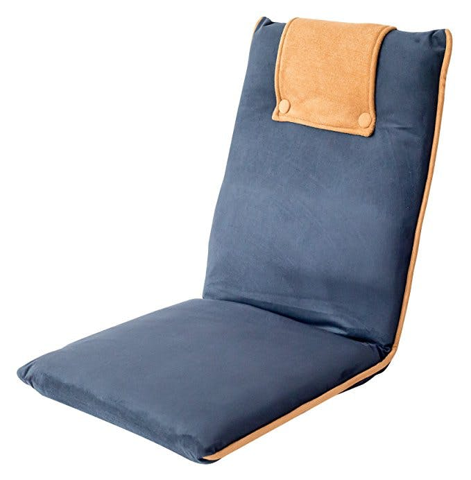 zaisu chair, tatami chair, padded floor chair