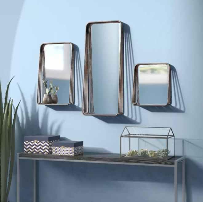Eide 3-Piece Framed Mirror Set