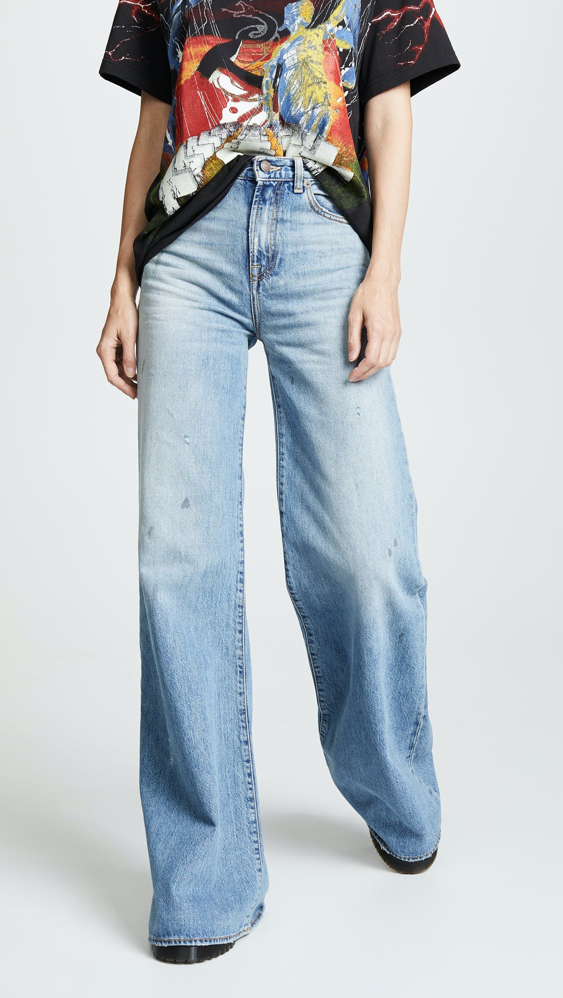 r13, r13 jeans, high rise jeans, high waisted jeans, wide leg jeans, long jeans, long jeans