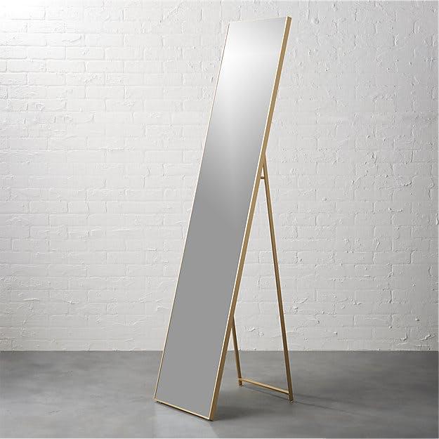 Infinity Brass Standing Mirror