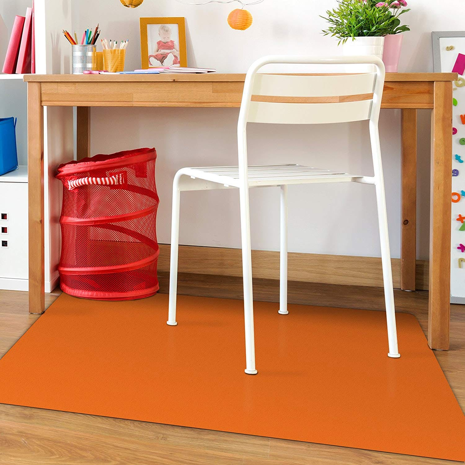 Orange Office Chair Mat