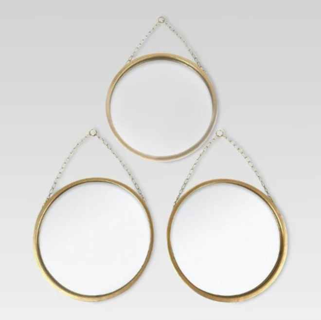 Brass 3-part mirror set