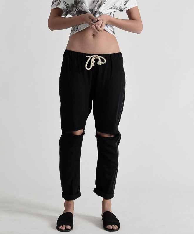 Shabbies Drawstring Pants in Black