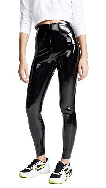 Faux Patant Leather Leggings
