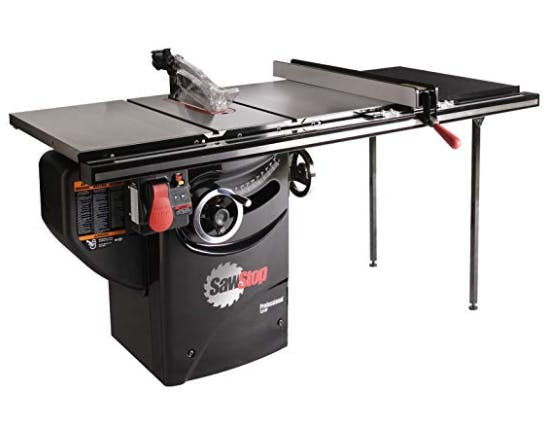 SawStop PCS31230-TGP236 3-HP Professional Cabinet Saw Assembly with 36-Inch Professional T-Glide Fence System, Rails and Extension Table