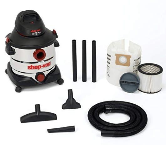 5986100 8-Gallon 5.5 Peak HP Stainless Steel Wet Dry Vacuum