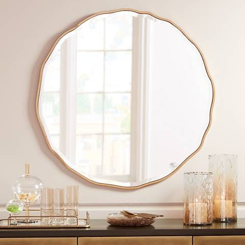 Waved Edge Wall Mirror