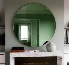 Round Emerald Green Wall Mirror