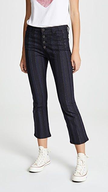 The Jodi Crop Button Up Jeans