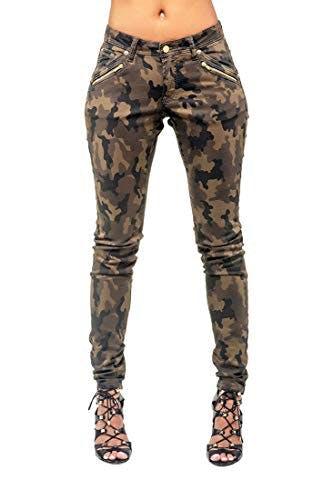 Camo Coated Jeans