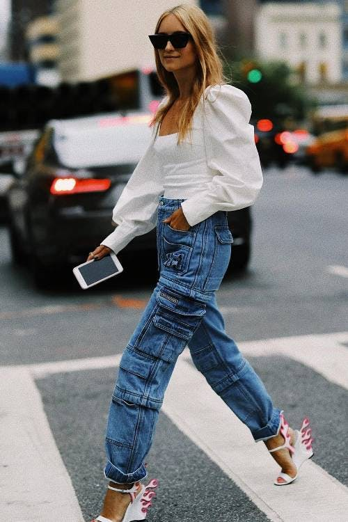 utility jeans, cargo jeans