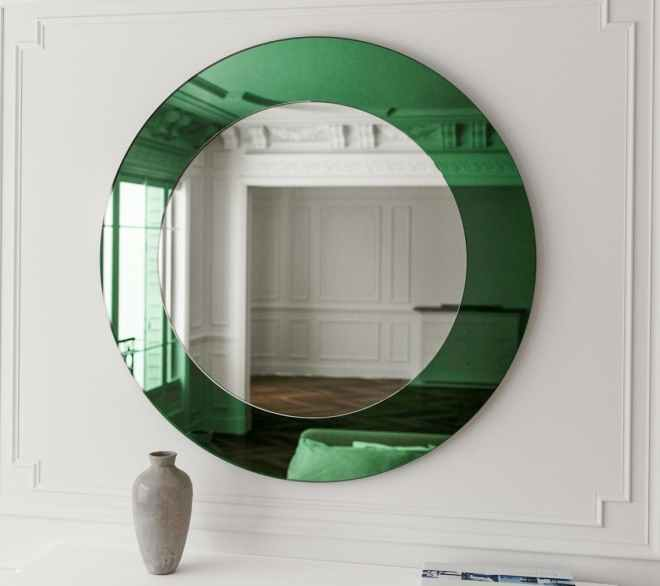 Emerald Green Art Deco Mirror