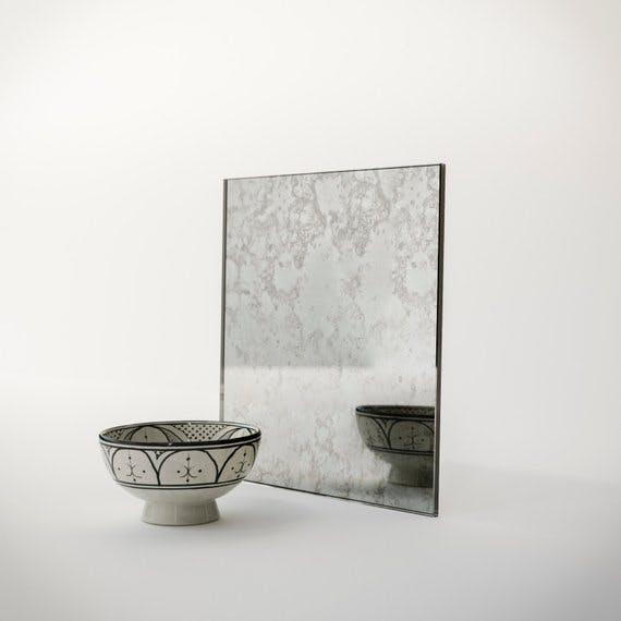 antiqued mirror, custom antiqued mirror