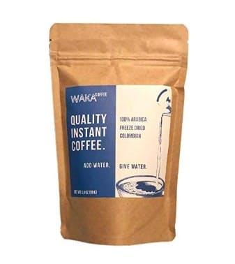Waka Coffee Quality Instant Coffee, Colombian, Medium Roast