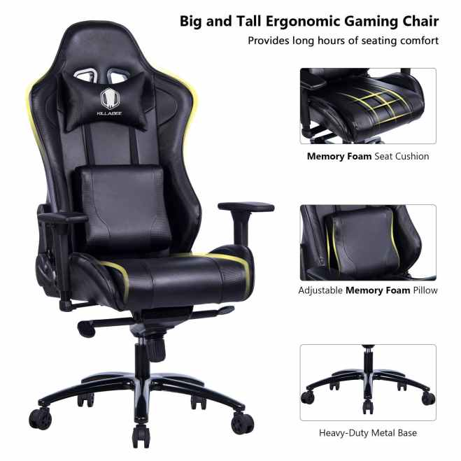Big and Tall Metal Base Gaming Chair