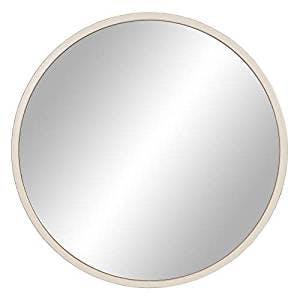 large white round mirror