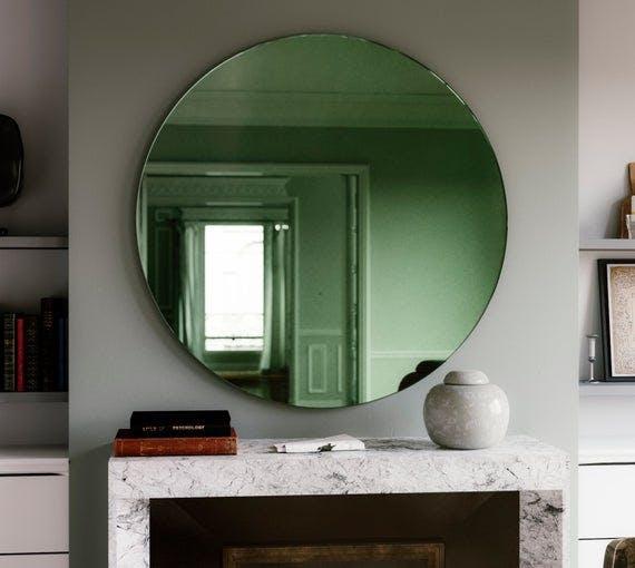 Green Round Deco Mirror from MirrorCoop