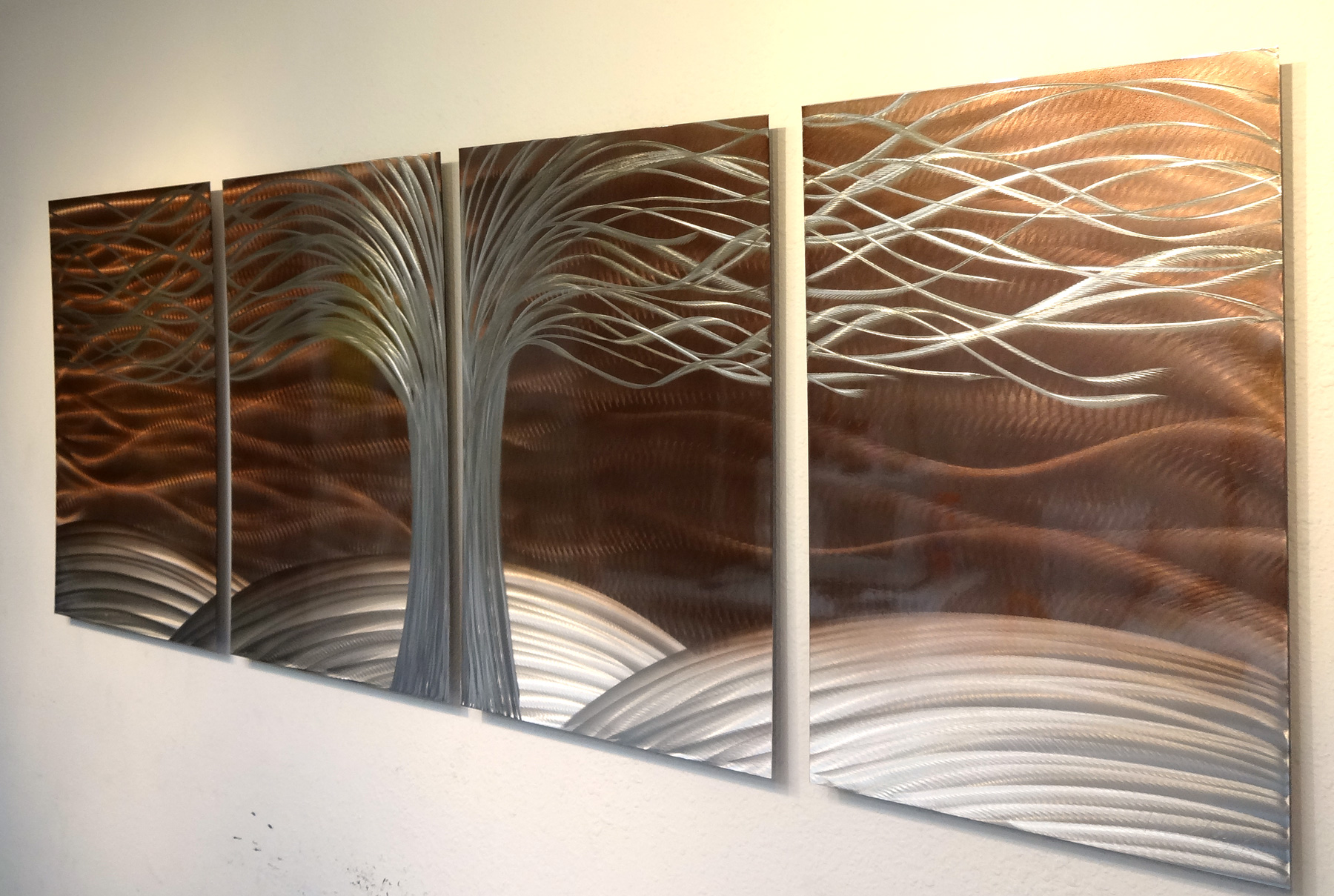 Tree Of Life Burnt Copper- Metal Wall Art Abstract