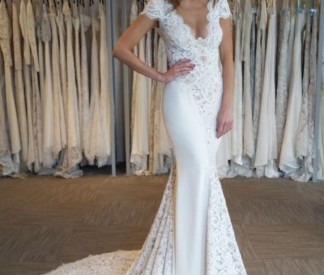 6f521a090962a Elegant Cap Sleeve Mermaid V Neck Lace Applique Wedding Dresses 2018 On  Storenvy