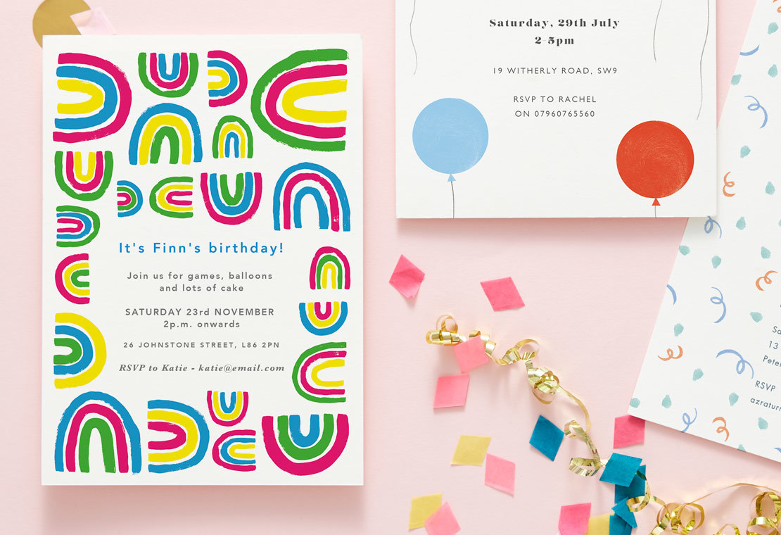 birthday party invitation wording papier