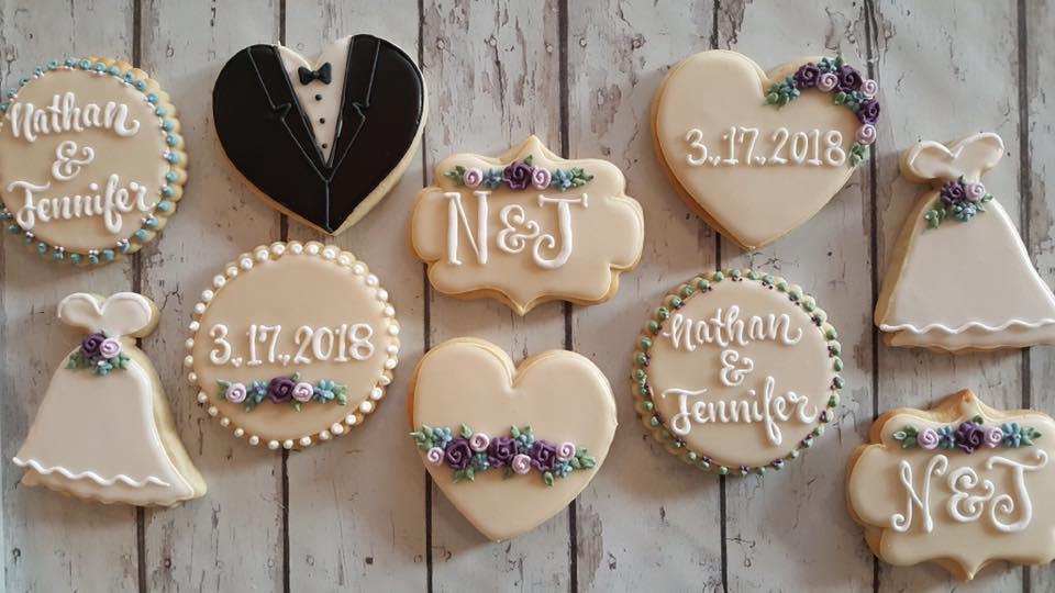 Nathan & Jennifer Wedding Cookies
