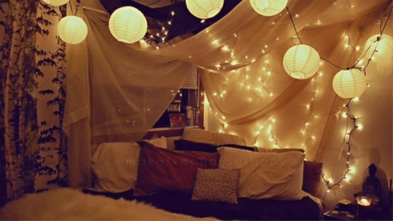 Lighted Wall Or Bed Canopy For DIY Decor
