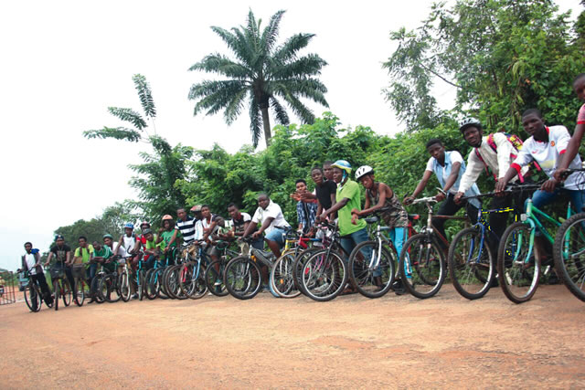 Students of OAU have taken to cycling