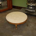 The Difference Auction Vintage Antique And Collectibles Item Round Marble Top Coffee Table
