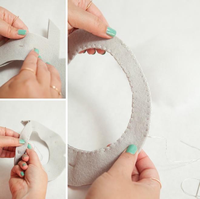 Awesome, DIY gigante sentiu anel de diamante para seu portador de anel!